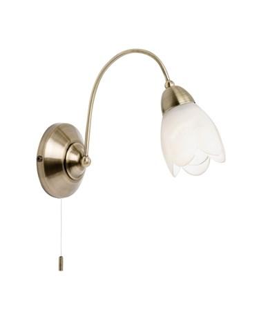 Endon Petal Wall Light - Antique Brass