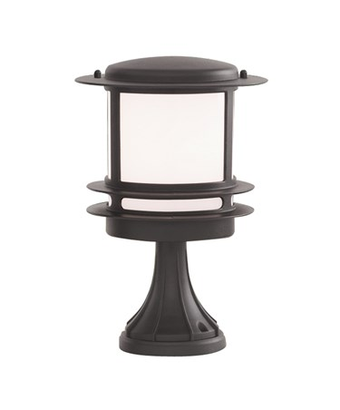 Searchlight Stroud Outdoor Bollard/Post Lamp - Black Aluminium - Ip44