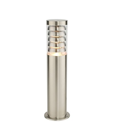 Endon Tango Outdoor Post Light - Brushed Stainless Steel - IP44