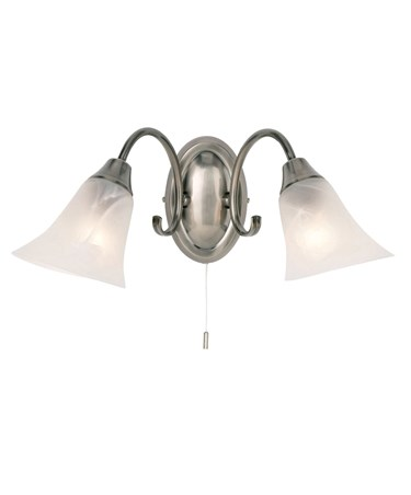 Endon Hardwick Wall Light - 2 Light - Antique Silver