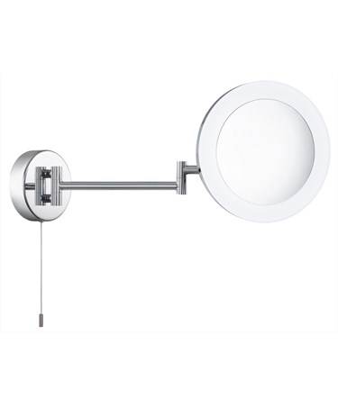 Searchlight Bathroom Shaving Mirror - Adjustable - Magnification - Chrome - Ip44