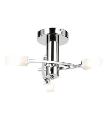 Endon Havana Semi Flush Ceiling Light - Chrome - Acid Glass - 3 Light