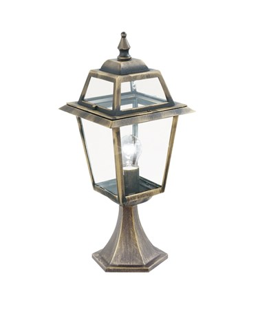 Searchlight New Orleans Small Outdoor Post Lamp - Black & Gold