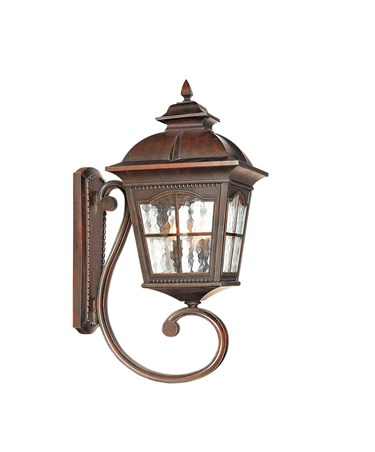 Searchlight Pompeii Large Outdoor Wall Uplighter - Brown Stone Finish - IP44