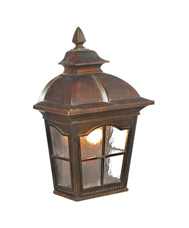 Searchlight Pompeii Large Outdoor Wall Light - Brown Stone Finish - Ip44