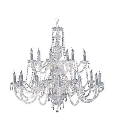 Searchlight Hale  18 Light Chandelier With Crystal Fittings - Chrome