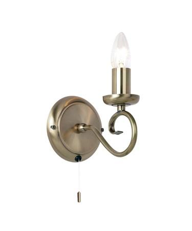 Endon Trafford Wall Light - Antique Brass