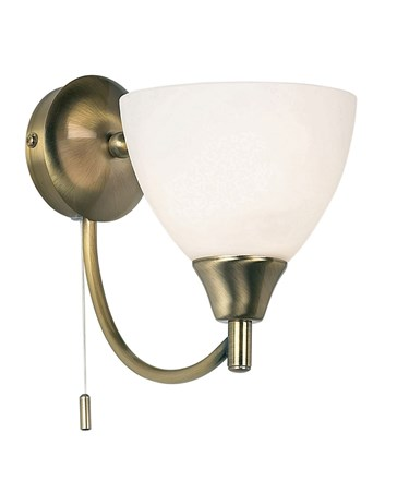 Endon Alton Wall Light - Antique Brass