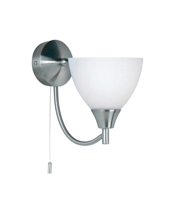 Endon Alton Wall Light - Satin Nickel