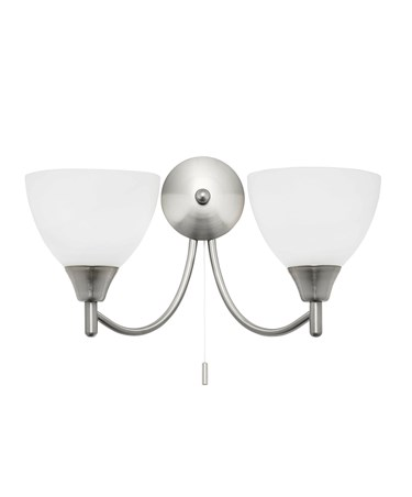 Endon Alton Wall Light - 2 Light - Satin Nickel