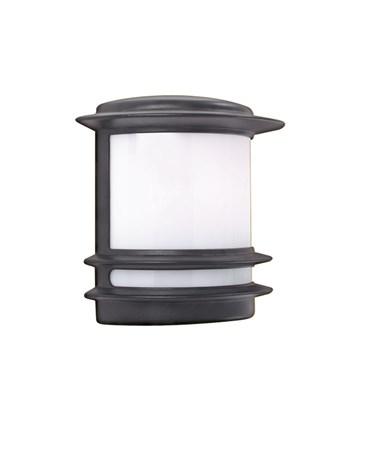 Searchlight Stroud Outdoor Wall Light - Black Aluminium - Ip44