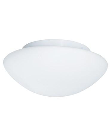 Searchlight Bathroom Flush Ceiling Light - White - Opal Glass - Ip44