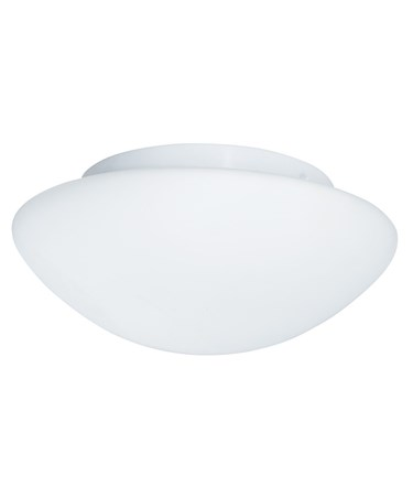Searchlight Bathroom Flush Ceiling Light - White - Opal Glass - IP44