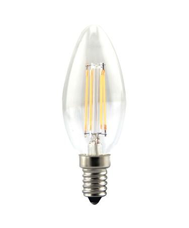 4W SES/Small Edison Screw Candle Shape Clear Filament LED Light Bulb - Warm
