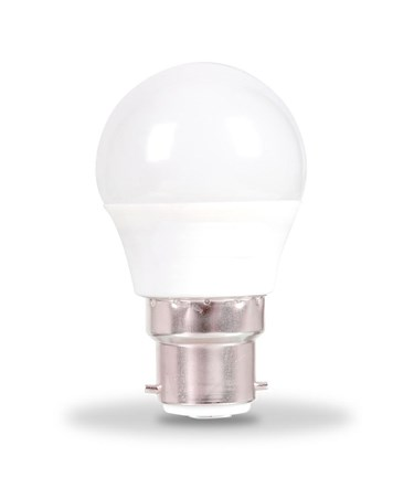 5.5W BC/Bayonet Golf Ball Shape LED Light Bulb - Warm White