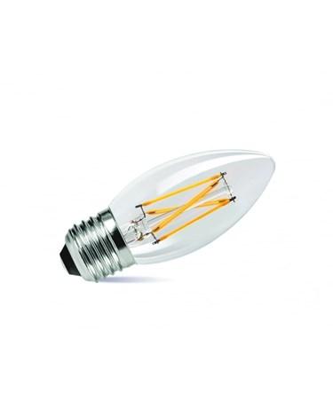 4W ES/Edison Screw Candle Shape Clear Filament LED Light Bulb - Warm White