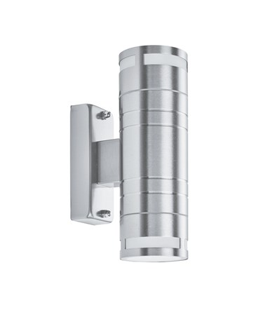 Searchlight Outdoor & Porch Cylinder Wall Up & Downlight - Stainless Steel