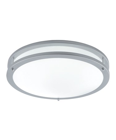 Searchlight Fluorescent Ceiling Light - Flush - Grey Trim - Opal Glass