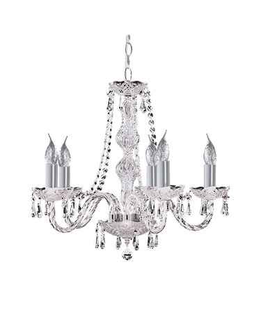 Searchlight Hale  5 Light Chandelier With Crystal Fittings - Chrome