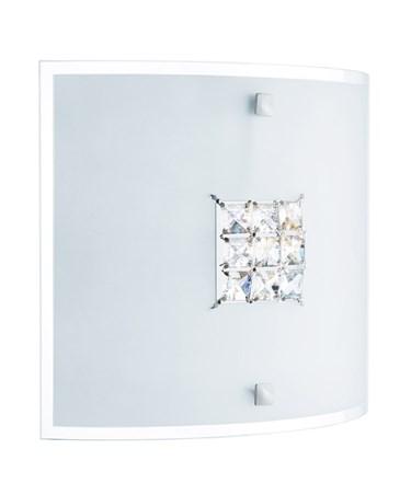 Searchlight Quadrex Square Flush Fitting -Square Crystal Detail - 30Cm