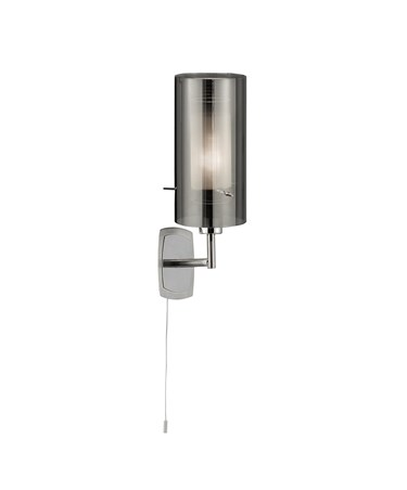 Searchlight Duo 2 Wall Light - Smokey Outer/Frosted Inner Glass Shades