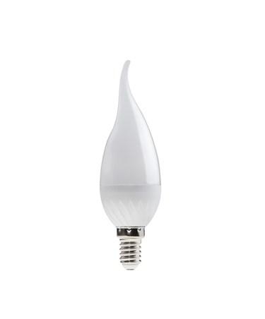 6W BC/Bayonet Candle Shape LED Light Bulb - Warm White