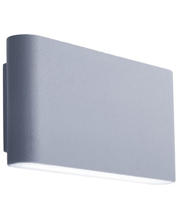 Searchlight Led Outdoor Wall Light - Sleek Angular - Grey - Frosted Diffuser