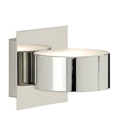Searchlight Single Wall Light - Mirrored Chrome & Glass