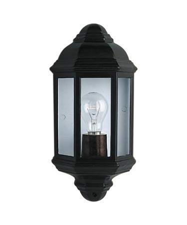 Searchlight Outdoor & Porch Wall Light-  Black Aluminium - Flush