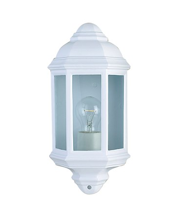 Searchlight Outdoor & Porch Flush Wall Light - White - Ip44