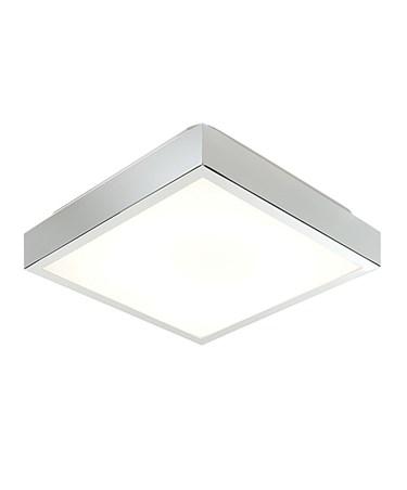 Endon Cubita Medium Flush Bathroom Ceiling Light - Chrome - HF - IP44