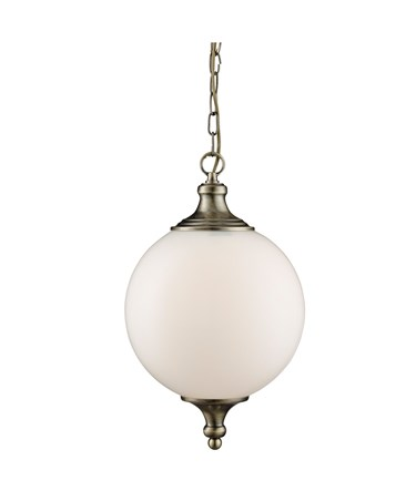 Searchlight Atom Ceiling Pendant Light - Opal Glass Ball Shade