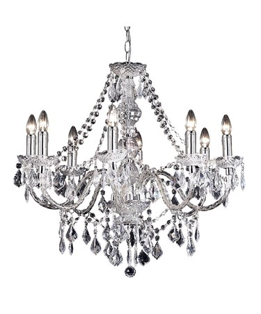 Endon Clarence Elegant Chandelier - Acrylic & Chrome - 8 Light