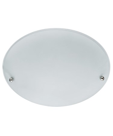 Searchlight Flush Ceiling Light - Round - Frosted Glass