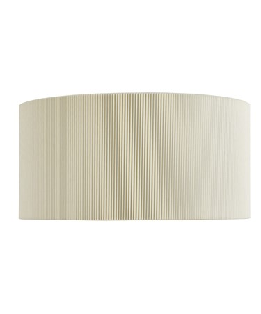 Searchlight Drum Pleat Wall Light - Cream Pleated Shade & Frosted Glass
