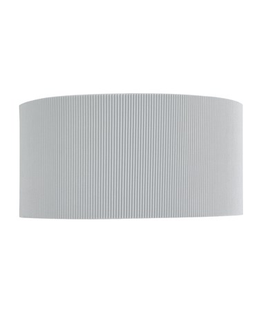 Searchlight Drum Pleat Wall Light - Silver Pleated Shade & Frosted Glass