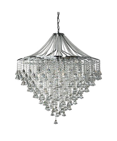 Searchlight Dorchester 7 Light Chandelier - Chrome - Diamond Crystal Drops