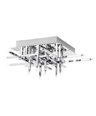 Searchlight Lattice Modern 16 Light - Flush Ceiling Fitting - Chrome