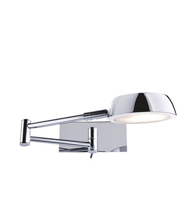 Searchlight Adjustable Swing-Arm Wall Light - Chrome