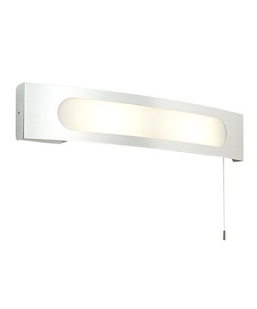 Endon Convesso 25W Bathroom Wall Light With Shaver Socket & Pull Cord