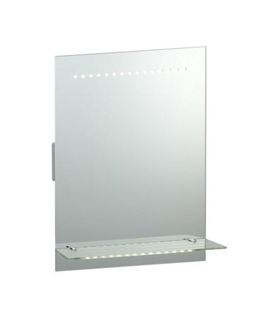 Endon Omega IP44 1W LED Bathroom Mirror With Glass Shelf