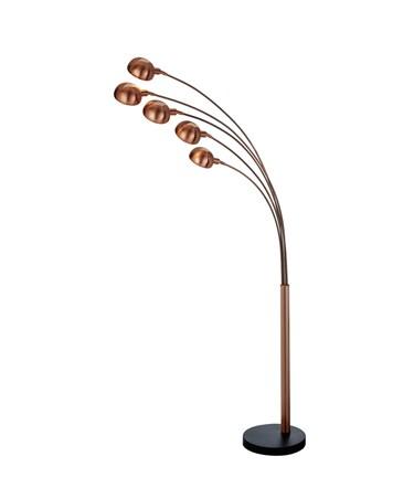 Searchlight Giraffe Modern 5 Light Multi Floor Lamp - Copper With Marble Base