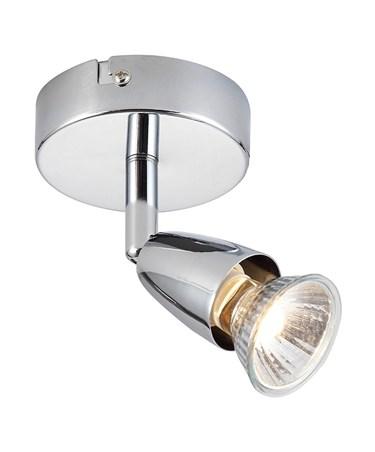 Endon Amalfi Single Spotlight - Chrome - Adjustable