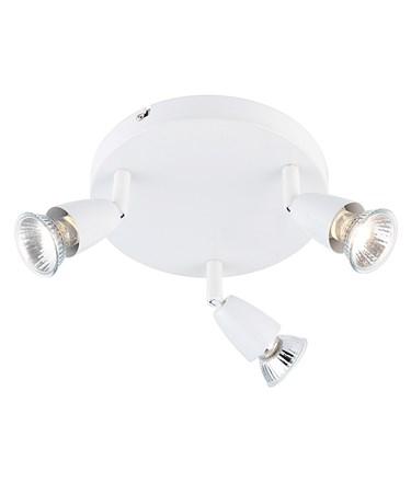 Endon Amalfi Triple Spotlight - Gloss White - Adjustable