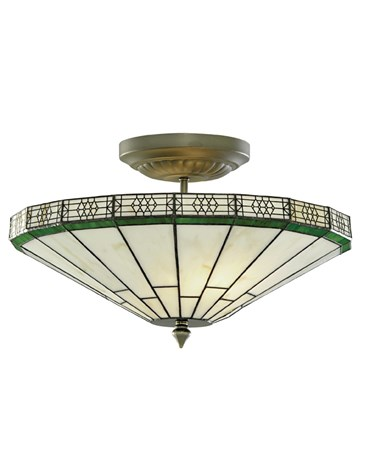 Searchlight Tiffany Style New York Semi-Flush Ceiling Light