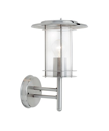 Endon York Outdoor Wall Light - Polished Stainless Steel - IP44
