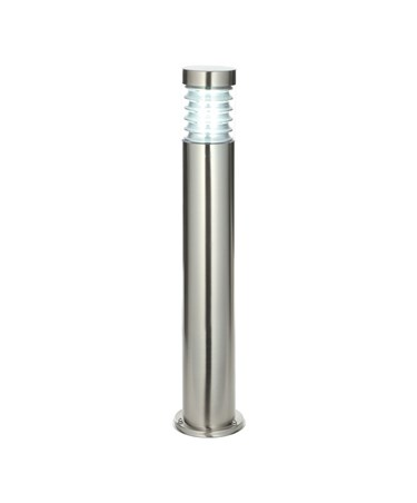 Endon Equinox Outdoor Bollard Light - Brushed Stainless Steel - IP44