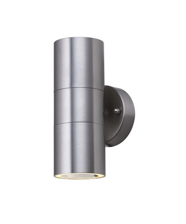 Searchlight Outdoor & Porch Wall Light - Stainless Steel 2 Light Tube