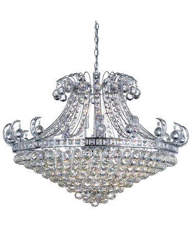 Searchlight Bloomsbury 8  Light Crystal Tiered Chandelier - Chrome