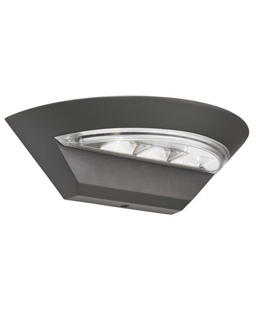 Searchlight Outdoor Led Semi-Cricle Wall Light - Dark Grey - Ip44